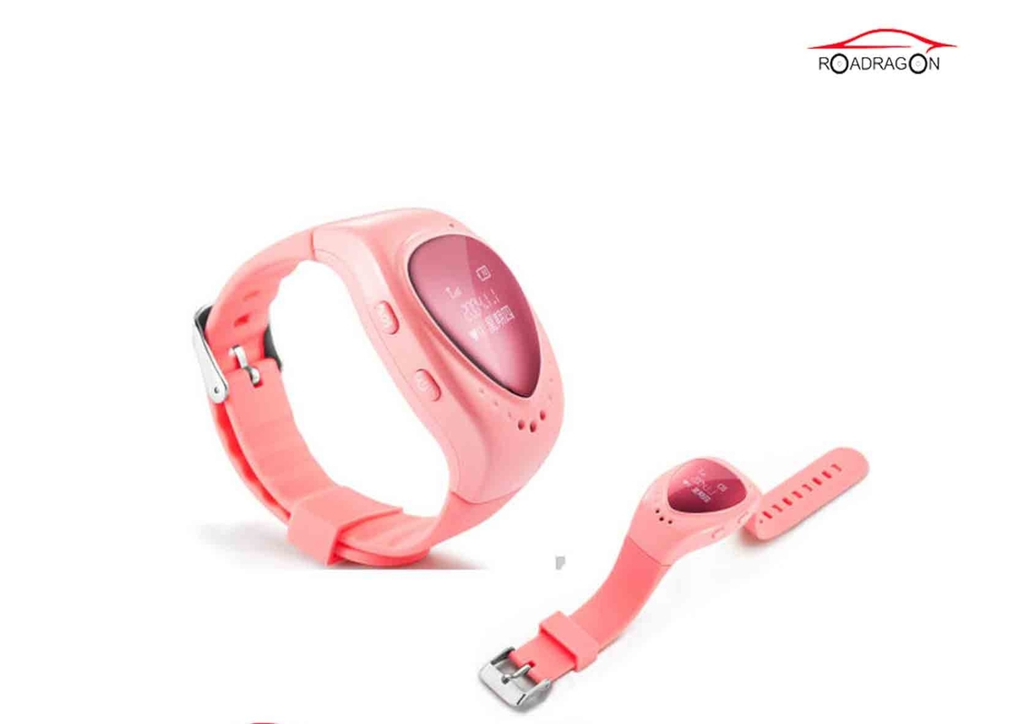 Portable GPS Locator Watch , SOS Alarm Voice Child Safety GPS Watch USB Recharger
