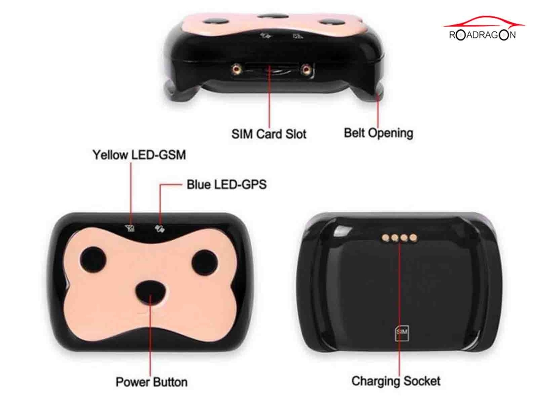 Sim Card Pet Gps Tracker , GPS Tracking Collar Low Battery Alarm With Software