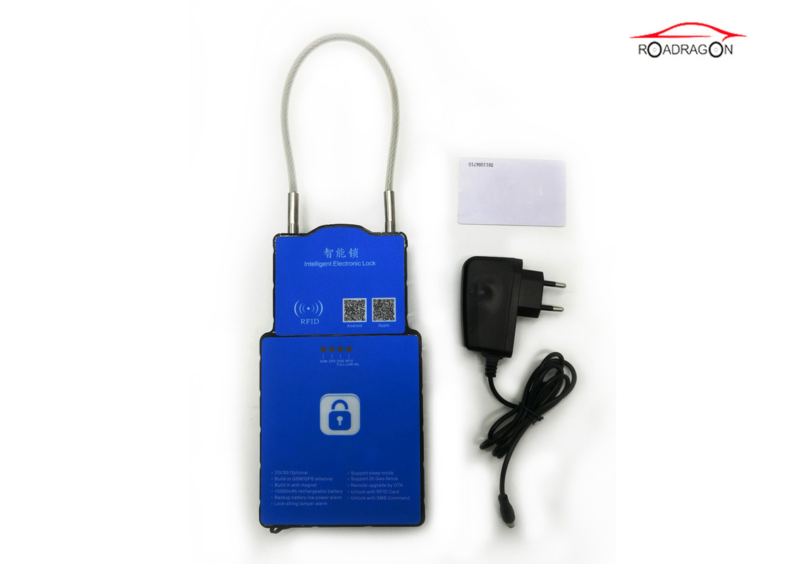 3G Waterproof GPS Container Lock Seal , Outdoor High Security Padlocks For Containers
